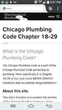 Chicago Plumbing Code. com mobile site